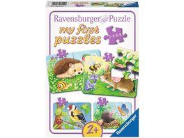 Ravensburger Puzzle my first Puzzle Suesse Gartenbewohner 8 Teile