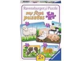 Ravensburger Puzzle my first Puzzle Liebenswerte Bauernhoftiere 8 Teile