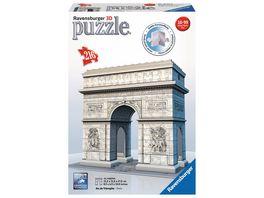 Ravensburger Puzzle 3D Puzzles Triumphbogen Paris 216 Teile