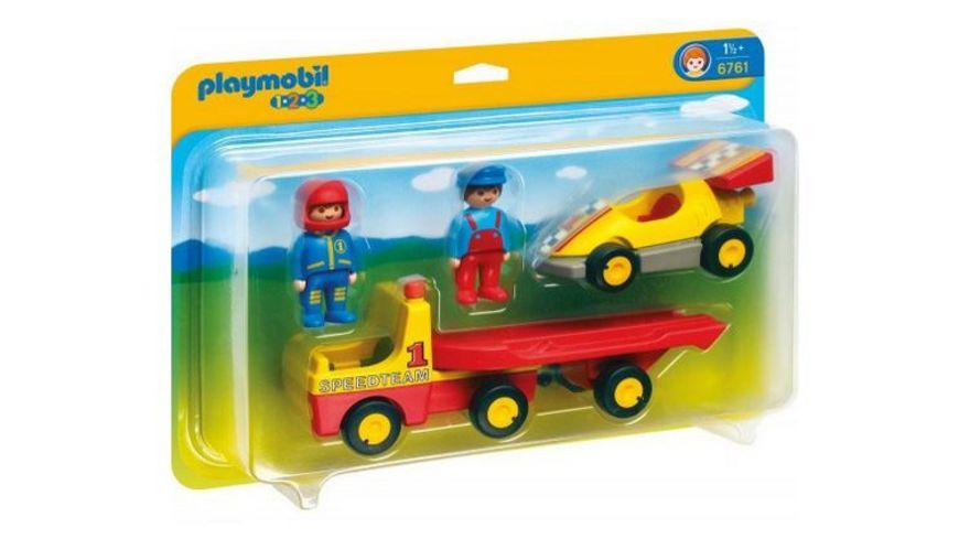 PLAYMOBIL 6761 1 2 3 Rennauto mit Transporter