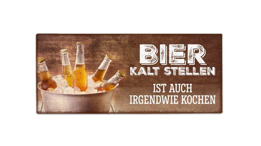 Geschenk fuer dich Bier Kalt 30 5x13 cm
