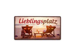 Geschenk fuer dich Magnet Lieblingsplatz 10x5 cm