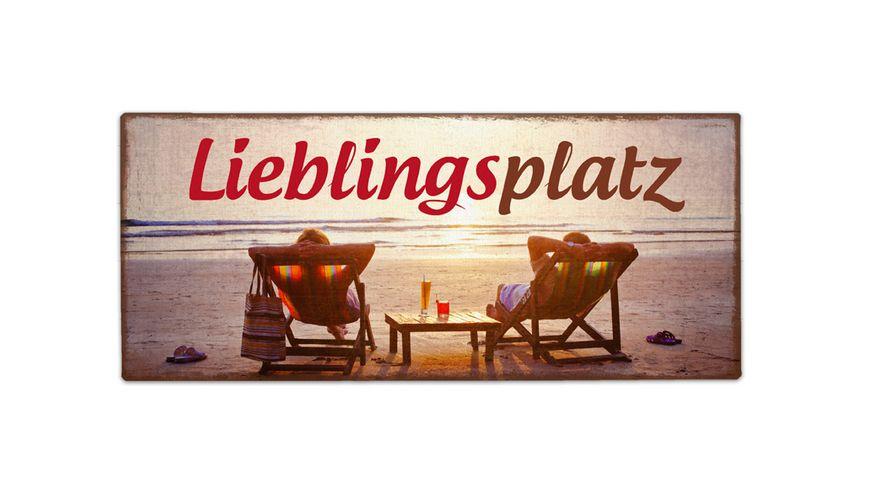 Geschenk fuer dich Schild Lieblingsplatz 30 5x13 cm