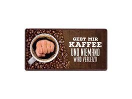 Geschenk fuer dich Magnet Gebt mir Kaffee 10x5 cm
