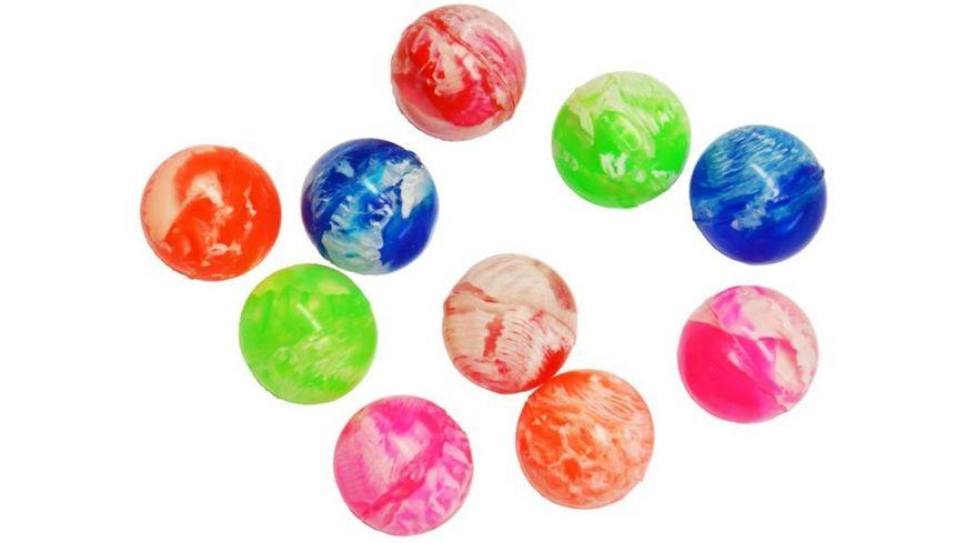 Koegler Bouncerz Multicolor Flummis 10er Set Baelle im Netz 25mm
