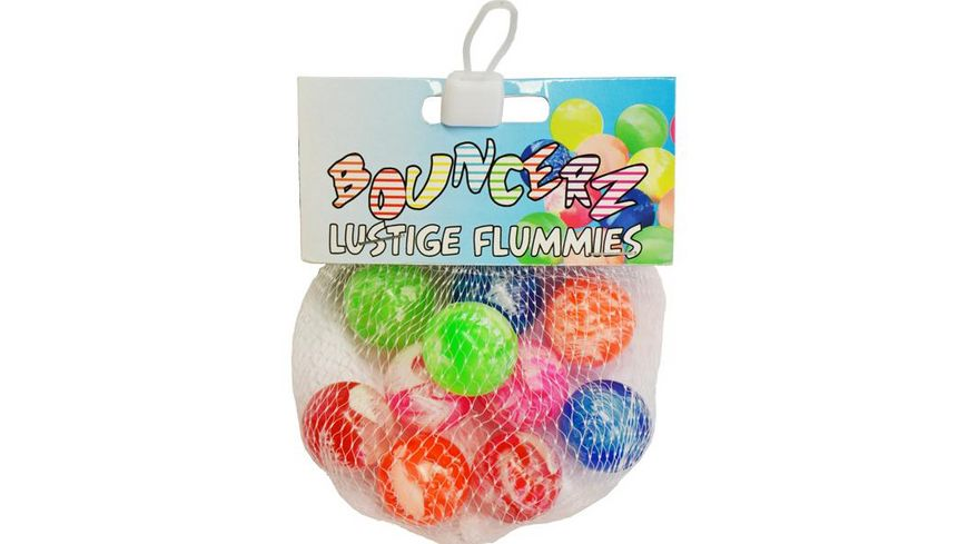 Koegler Bouncerz Multicolor Flummis 10er Set Baelle im Netz 25mm