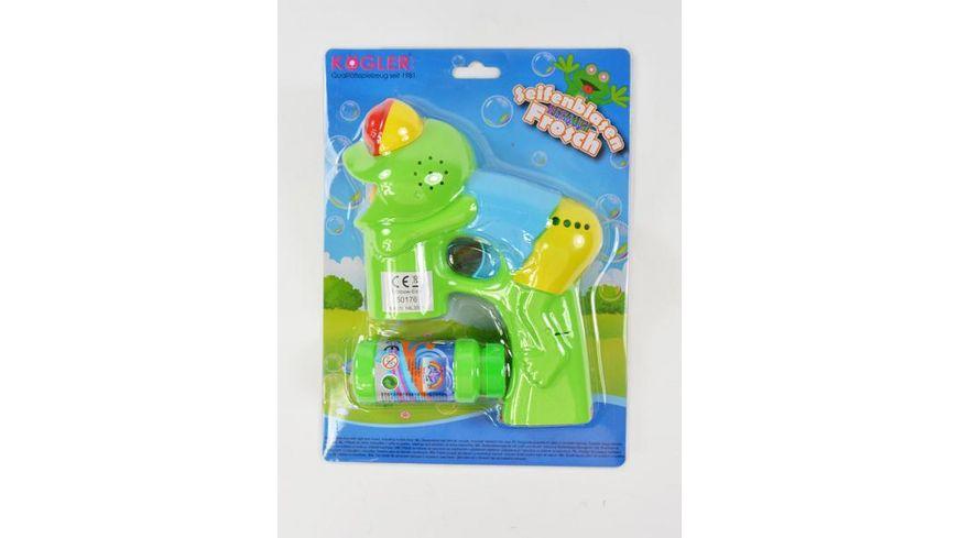 Koegler Seifenblasenpistole Froggy liegender Frosch mit Licht und Musik