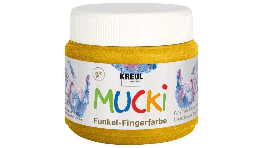 KREUL MUCKI Funkel Fingerfarbe Goldschatz