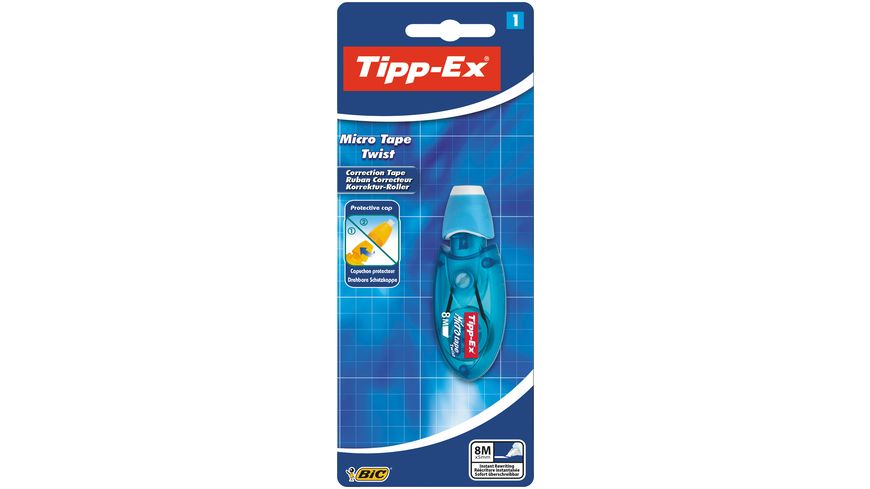 Tipp Ex Korrekturroller Micro Tape Twist mit drehbarer Schutzkappe
