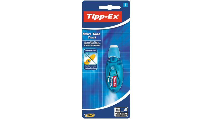 Tipp-Ex Micro Tape Twist Korrekturroller 8 m x 5 mm - rosa oder blaues Gehäuse, 1er Pack