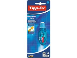 Tipp Ex Micro Tape Twist Korrekturroller 8 m x 5 mm rosa oder blaues Gehaeuse 1er Pack