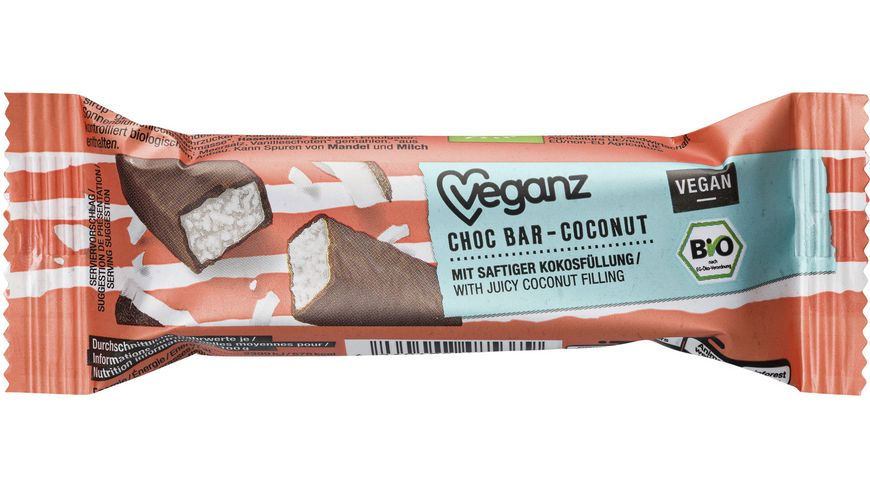 Veganz BIO Choc Bar Coconut