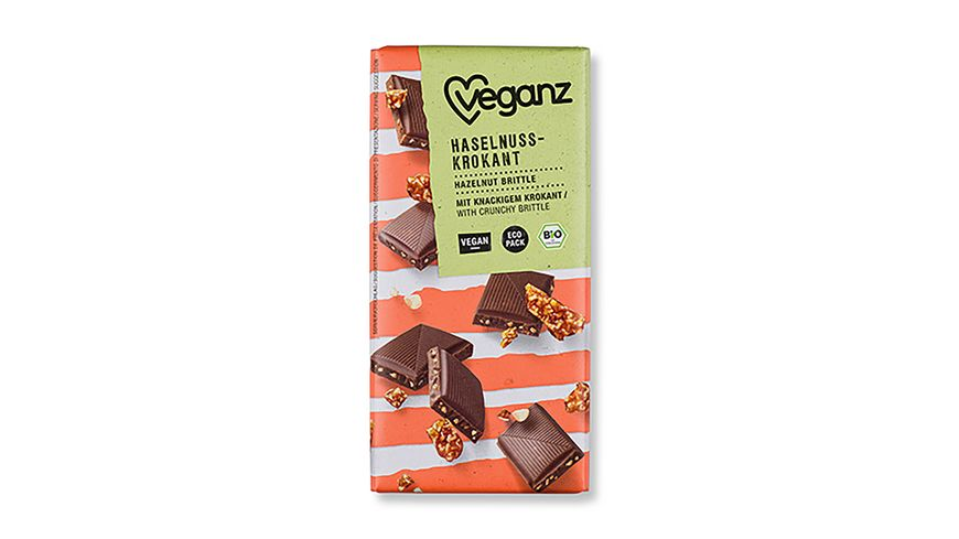 Veganz BIO Rice Choc Haselnuss-Krokant
