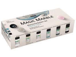 KREUL Marmorierfarbe Magic Marble Set Chalky Living 6x 20 ml