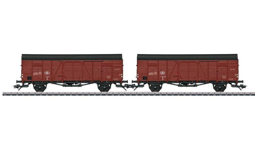 Maerklin 46383 Zwei gedeckte Gueterwagen Glm