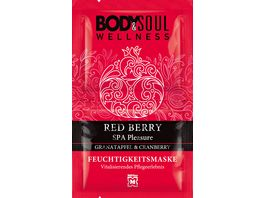 BODY SOUL Feuchtigkeitsmaske Red Berry Spa Pleasure Granatapfel Cranberry