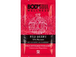 BODY SOUL Feuchtigkeitsmaske Red Berry Spa Pleasure Granatapfel Cranberry