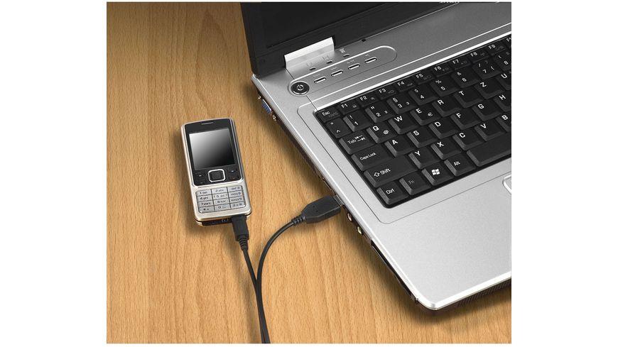 Hama Lade Daten Kabel Micro USB 0 6 m Schwarz