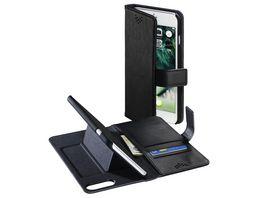 Booklet Stand Up fuer Apple iPhone 6 Plus 6s Plus 7 Plus 8 Plus Schwarz