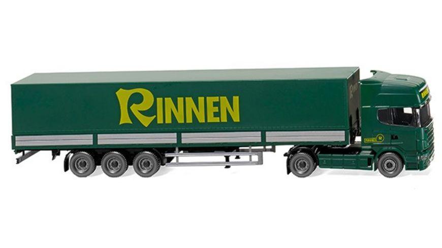 WIKING 051804 Pritschensattelzug Scania R420 Topline Rinnen