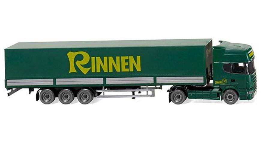 WIKING 0518 04 Pritschensattelzug Scania R420 Topline Rinnen