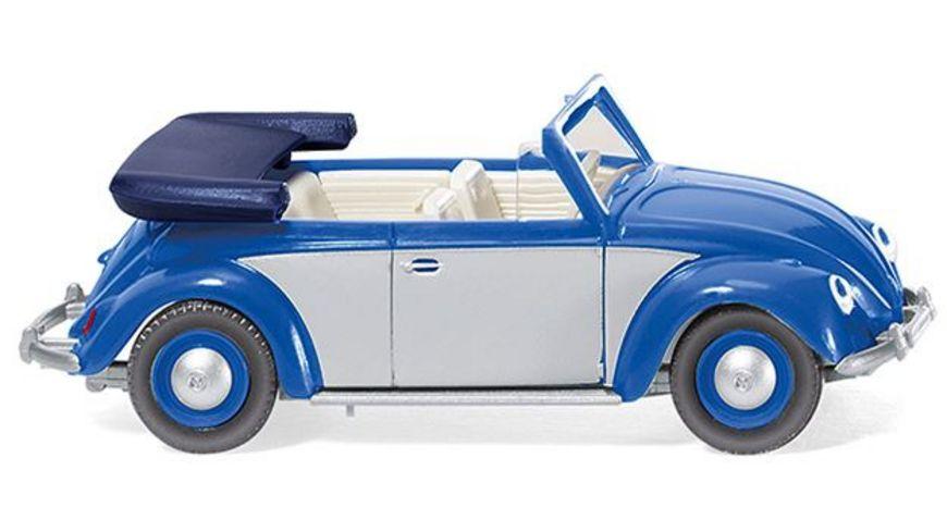 WIKING 0794 04 VW Kaefer 1200 Cabrio blau silber