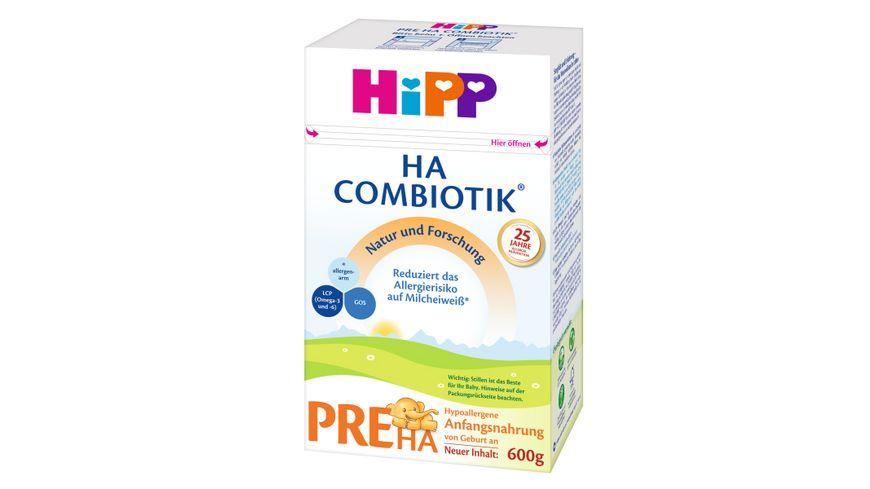 HIPP Milchnahrung HA Combiotik: HIPP Pre HA Combiotik, von Geburt an, 600g