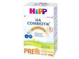 HIPP Milchnahrung HA Combiotik HIPP Pre HA Combiotik von Geburt an 600g