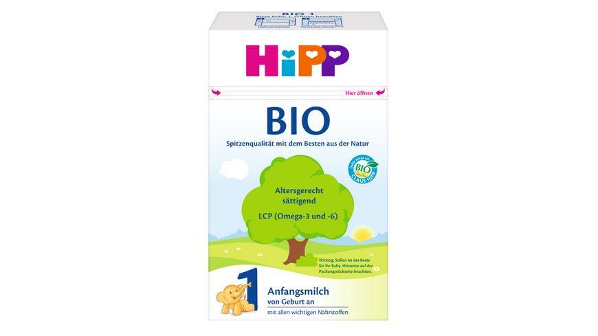 HiPP Milchnahrung Bio: Bio-Anfangsmilch 600g, von Geburt an