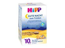 HiPP Bio Gute Nacht Milch Getreide Mahlzeit aus Bio Milch und Bio Getreide 500g 2x250g ab 10 Monat
