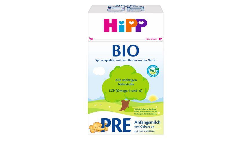 HiPP Milchnahrung Bio: Pre Bio-Anfangsmilch 600g, von Geburt an