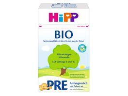 HiPP Milchnahrung Bio Pre Bio Anfangsmilch 600g von Geburt an