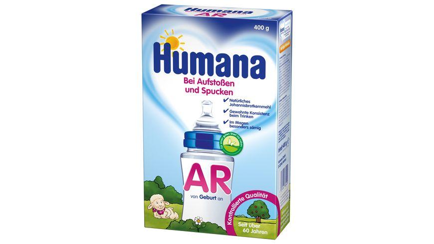 Humana AR Babynahrung bei Aufstoßen und Spucken