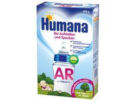 Humana AR Babynahrung bei Aufstossen und Spucken