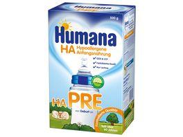 Humana Pre hypoallergene Anfangsnahrung fuer Babys