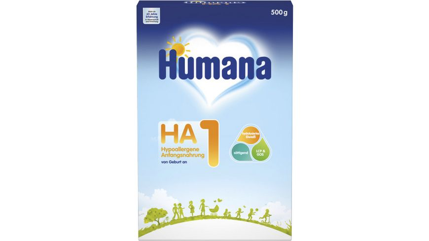 Humana HA1 hypoallergene Anfangsnahrung