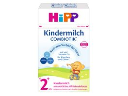 HiPP Milchnahrung Combiotik 600g Kindermilch mit natuerlichen Milchsaeurekulturen ab 2 Jahre