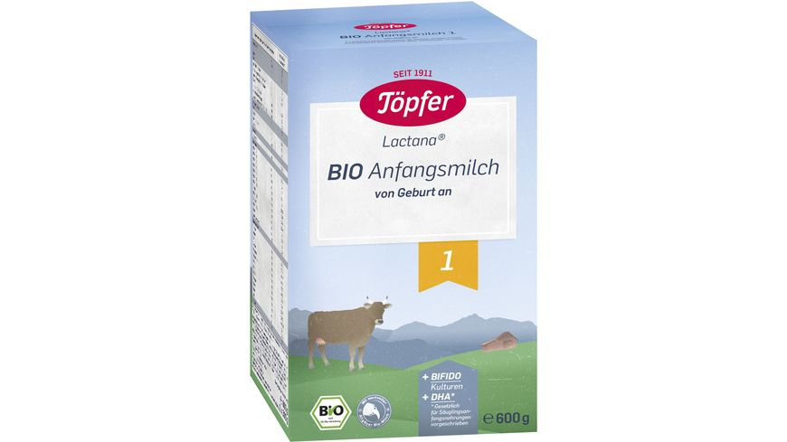 Toepfer Lactana Bio Anfangsmilch 1