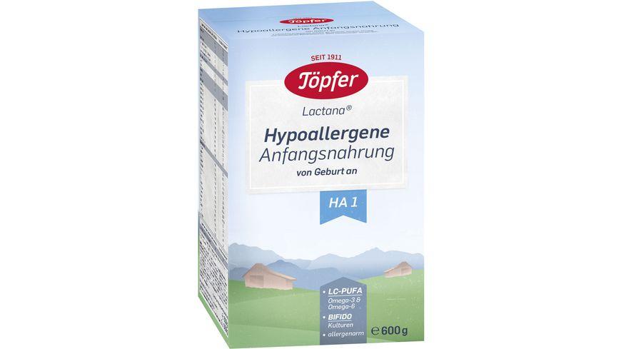 Toepfer Lactana Hypoallergene Anfangsnahrung 1