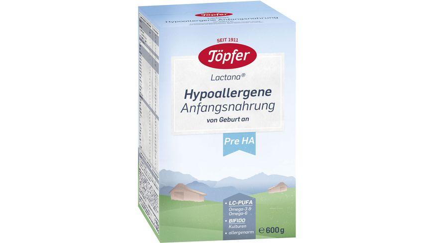Töpfer Lactana Hypoallergene Anfangsnahrung PRE
