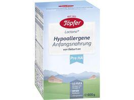 Toepfer Lactana Hypoallergene Anfangsnahrung Pre HA