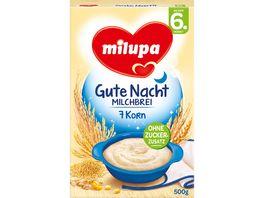 Milupa Gute Nacht Milchbrei 7 Korn 6M