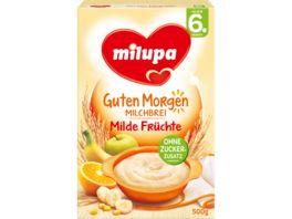 Milupa Guten Morgen Milchbrei Milde Fruechte 6M