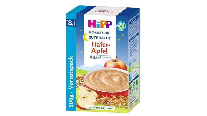 HiPP Bio Milchbreie Gute Nacht Brei Hafer Apfel Vorratspackung