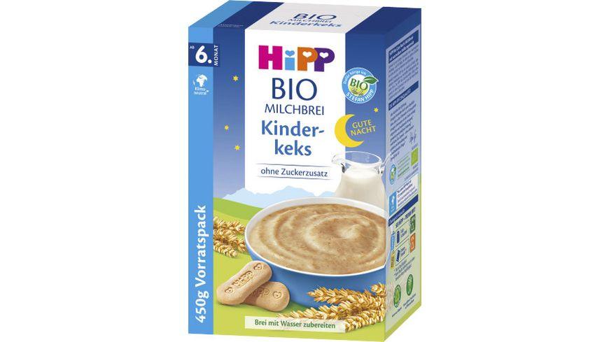 HiPP Bio Milchbreie Gute Nacht Brei Kinderkeks Vorratspackung