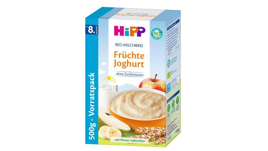 HiPP Bio Milchbreie Fruechte Joghurt 500g Vorratspackung