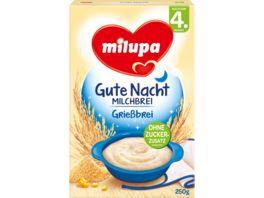 Milupa Gute Nacht Milchbrei Griessbrei 4M