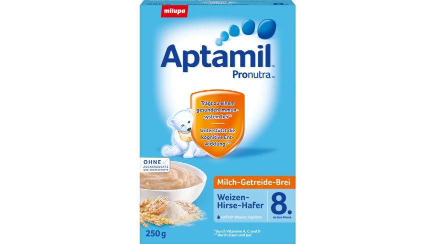Aptamil Milch Getreide Brei Pronutra Weizen Hirse Hafer