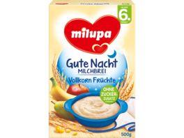Milupa Gute Nacht Milchbrei Vollkorn Fruechte 6M