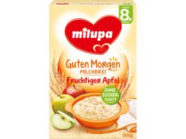 Milupa Guten Morgen Milchbrei Fruchtiger Apfel 8M